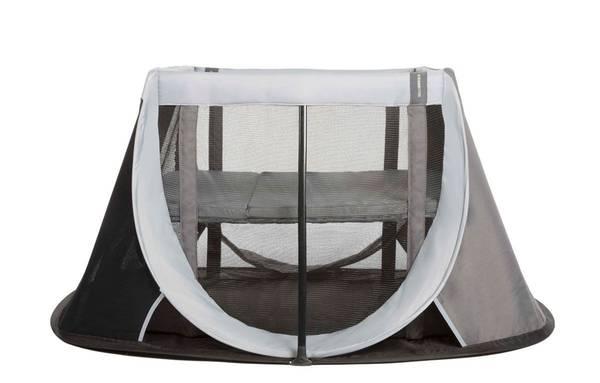lit parapluie avec ouverture zippée
