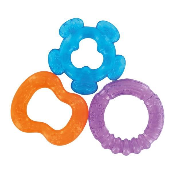 bavoir bandana avec anneau de dentition integre