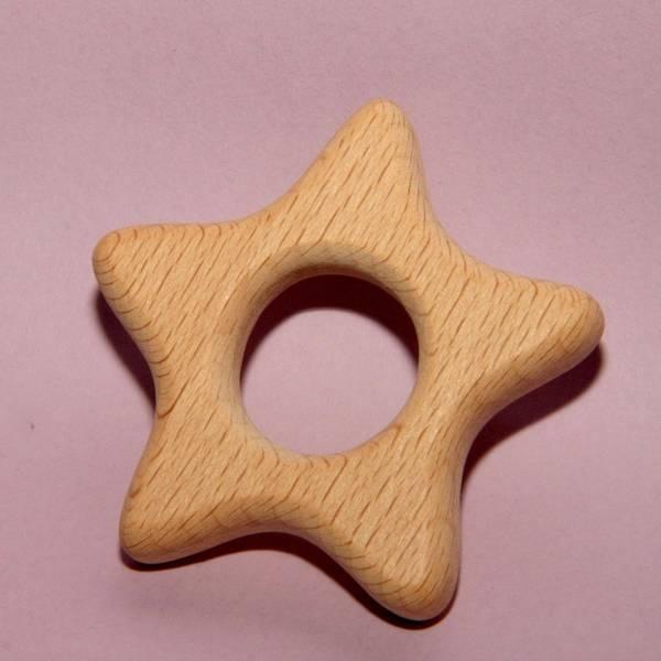 anneau de dentition bébé bois