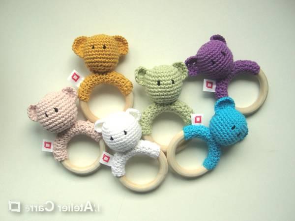doudou plat crochet anneau de dentition